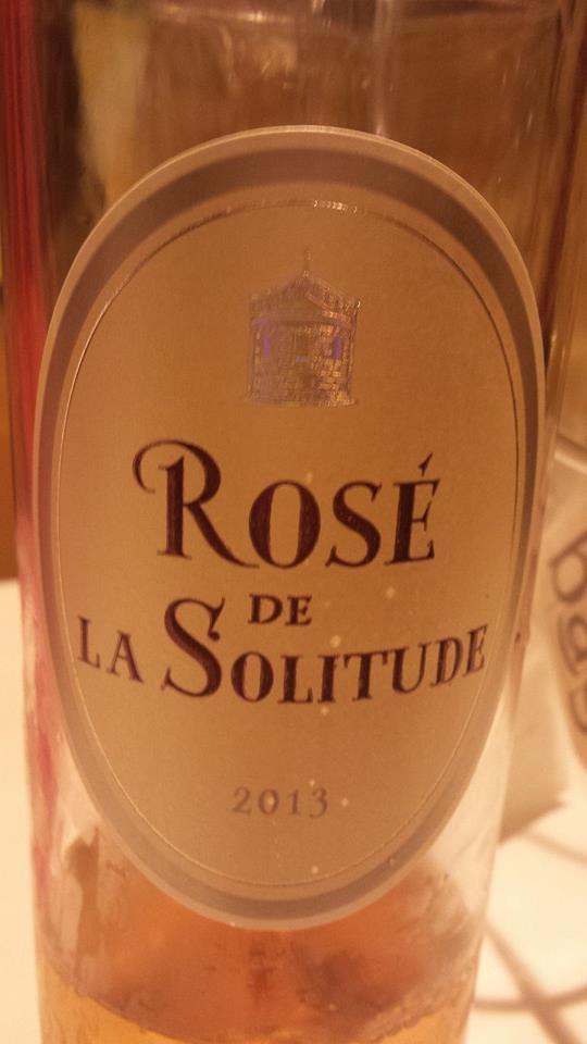 Rosé de la Solitude 2013 – Bordeaux
