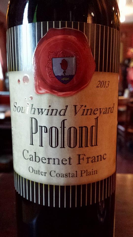 Southwind Vineyard – Profond Cabernet Franc 2013 – Outer Coastal Plain