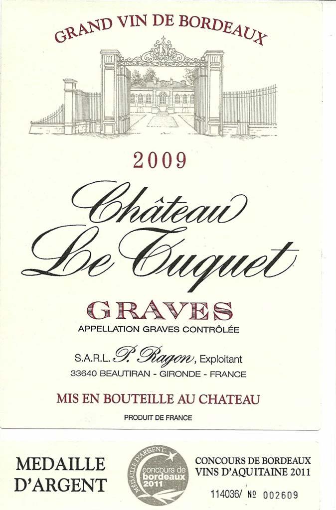 Château Le Tuquet 2009 – Graves