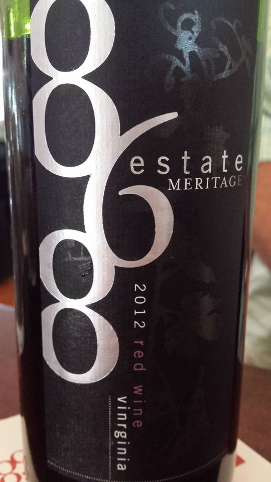 868 Estate Vineyards – Méritage – Red Wine 2012 – Virginia