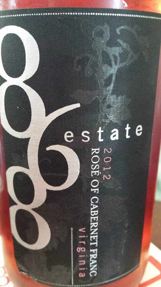 868 Estate Vineyards – Rosé de Cabernet Franc 2012 – Virginia