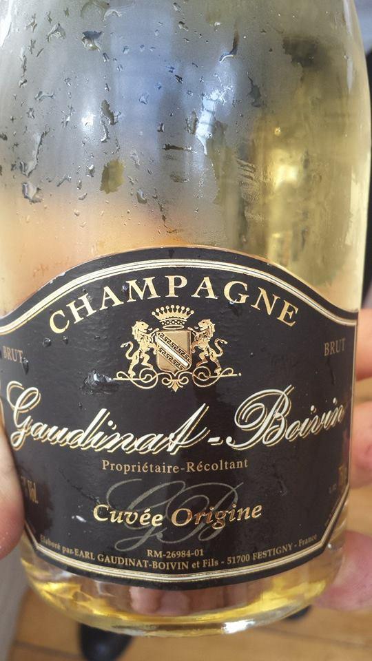 Champagne Gaudinat-Boivin – Cuvée Origine – Blanc de Noirs – NV