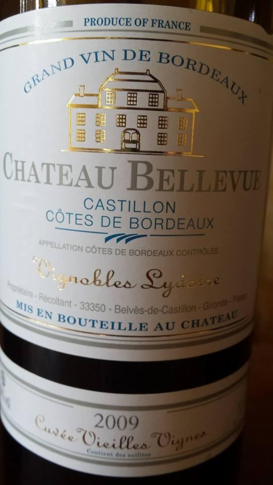 Château Bellevue – Cuvée Vieilles Vignes 2009 – Castillon Côtes de Bordeaux