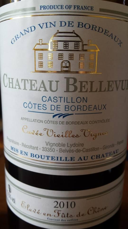 Château Bellevue – Cuvée Vieilles Vignes 2010 – Castillon Côtes de Bordeaux