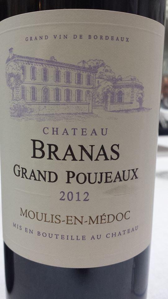 Château Branas Grand-Poujeau 2012 – Moulis-en-Médoc – Cru Bourgeois