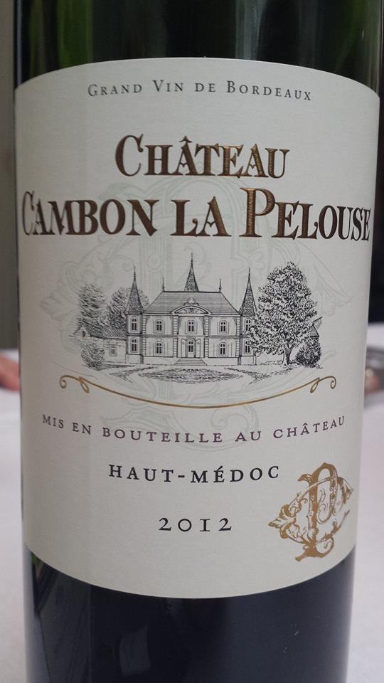 Château Cambon La Pelouse 2012 – Haut-Médoc – Cru Bourgeois