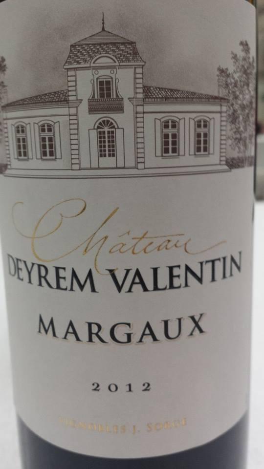 Château Deyrem Valentin 2012 – Margaux – Cru Bourgeois
