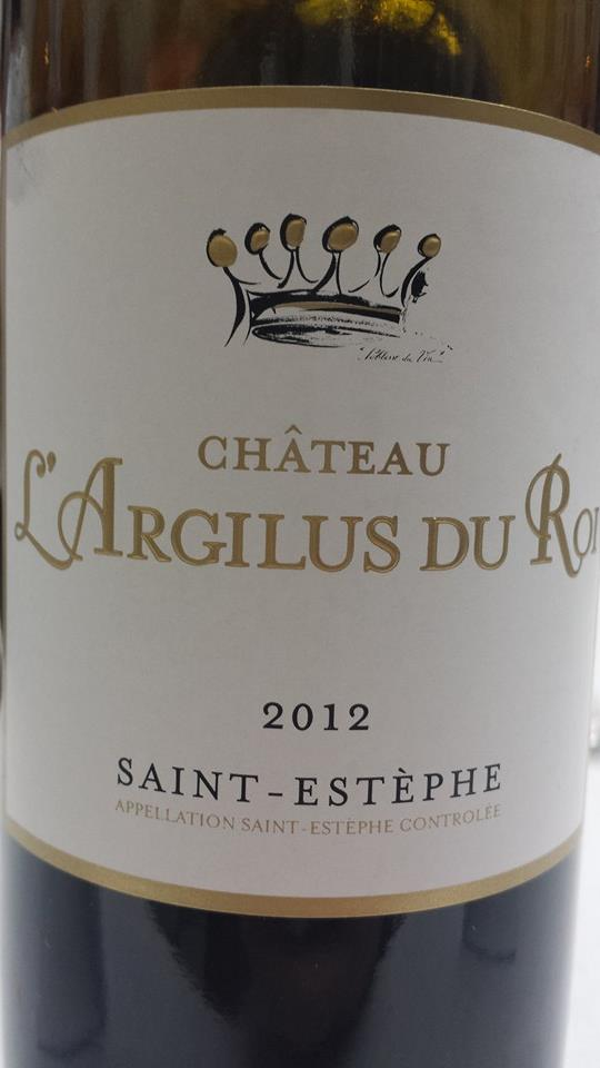 Château L'Argilus du Roi 2012 – Saint-Estèphe – Cru Bourgeois