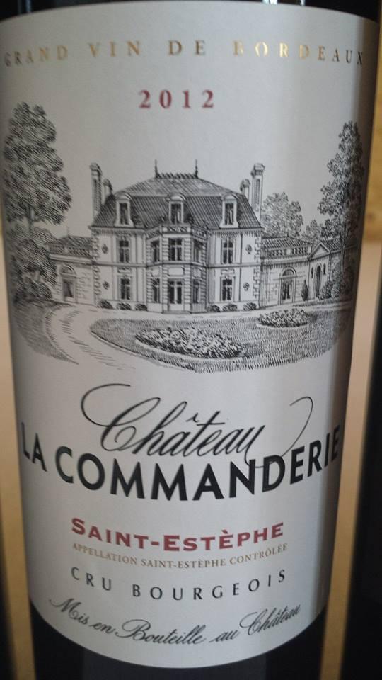Château La Commanderie 2012 – Saint-Estèphe – Cru Bourgeois