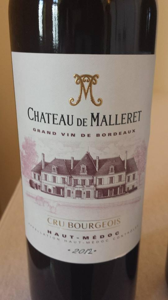 Château Malleret 2012 – Haut-Médoc – Cru Bourgeois