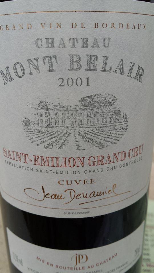 Château Mont Belaire 2001 – Saint-Emilion Grand Cru
