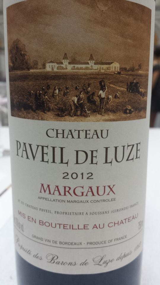 Château Paveil de Luze 2012 – Margaux – Cru Bourgeois