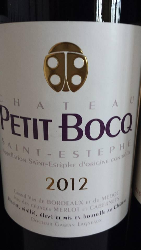 Château Petit Bocq 2012 – Saint-Estèphe – Cru Bourgeois