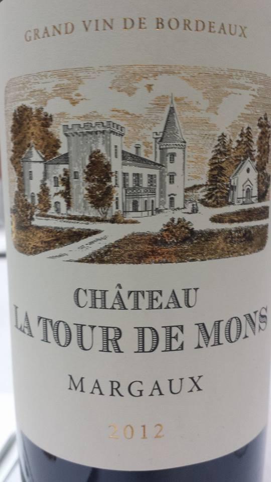 Château Tour de Mons 2012 – Margaux – Cru Bourgeois