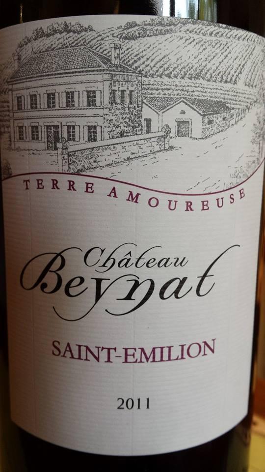 Château Beynat – Terre Amoureuse 2011- Saint-Emilion