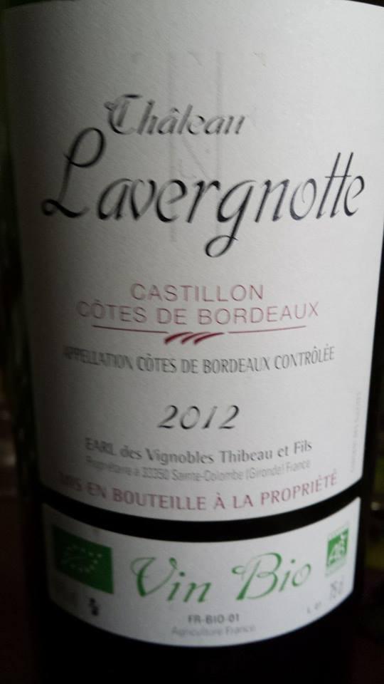 Château Lavergnotte 2012 – Castillon Côtes de Bordeaux