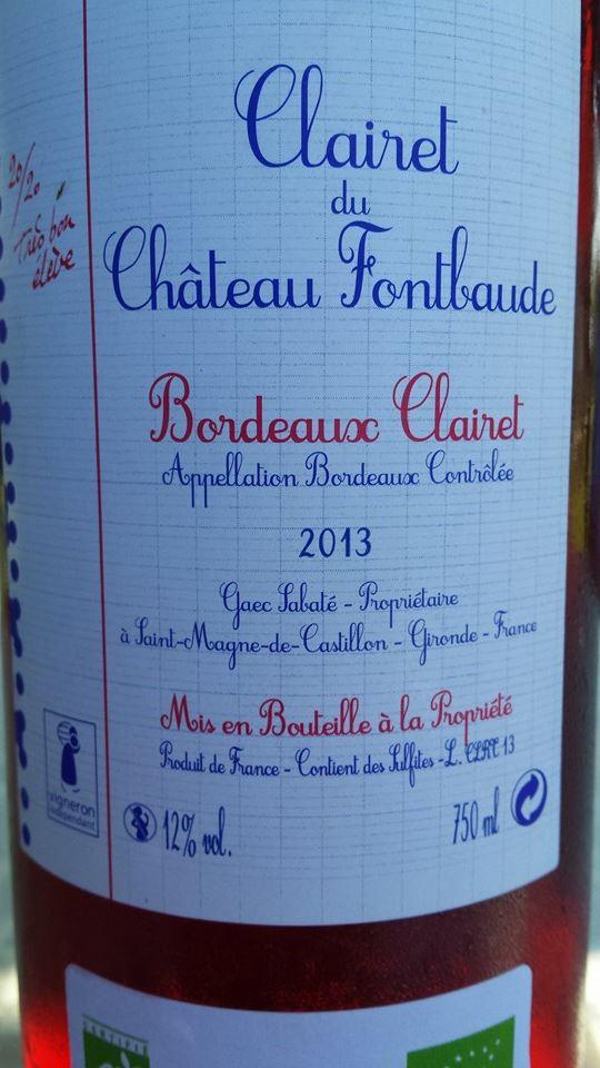 Clairet du Château Fontbaude 2013 – Bordeaux Clairet