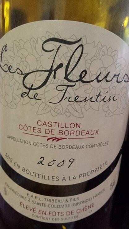Les Fleurs de Trentin 2009 – Castillon Côtes de Bordeaux