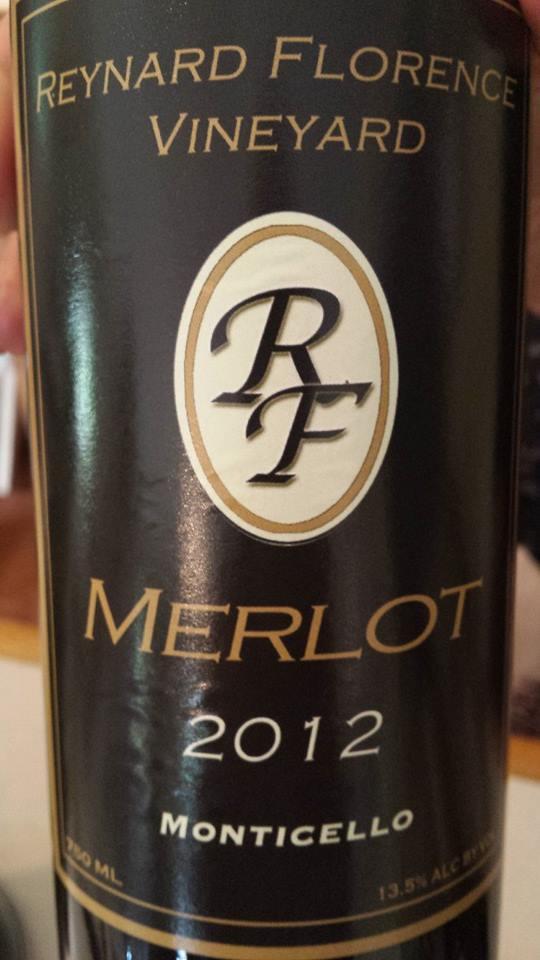 Reynard Florence Vineyard – Merlot 2012 – Monticello