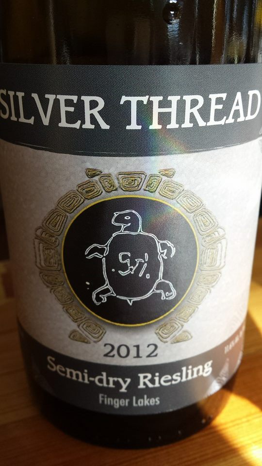 Silver Thread – Semi-Dry Riesling 2012 – Finger Lakes