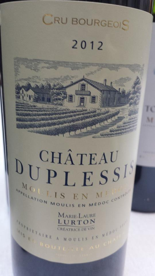 Château Duplessis 2012 – Moulis en Médoc – Cru Bourgeois