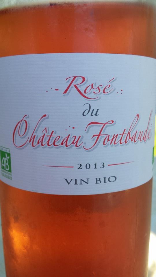 Rosé du Château Fontbaude 2013 – Bordeaux