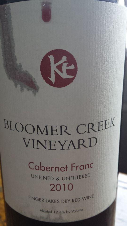 Bloomer Creek Vineyard – Cabernet Franc 2010 – Unfined & Unfiltered – Finger Lakes