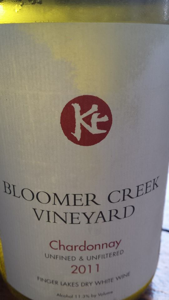 Bloomer Creek Vineyard – Chardonnay 2011 – Unfined & Unfiltered – Finger Lakes