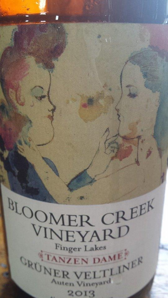 Bloomer Creek Vineyard – Grüner Veltliner 2013 – Tanzen Dame – Auten Vineyard – Finger Lakes