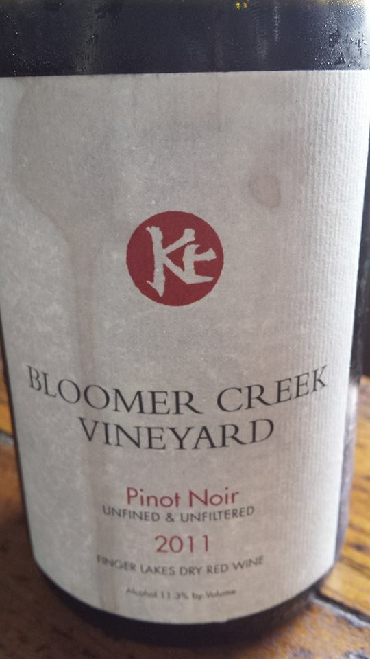 Bloomer Creek Vineyard – Pinot Noir 2011 – Unfined & Unfiltered – Finger Lakes