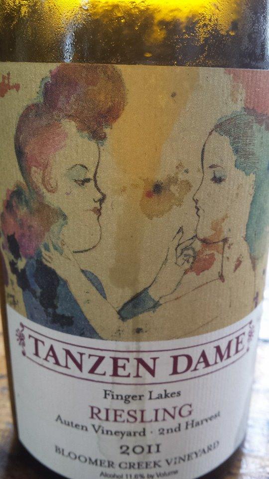 Bloomer Creek Vineyard – Tanzen Dame Riesling 2011 – Auten Vineyard 2nd Harvest – Finger Lakes