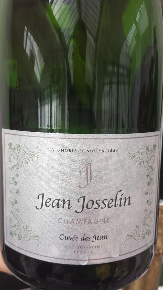 Champagne Jean Josselin – Cuvée des Jean – Blanc de Noirs – NV