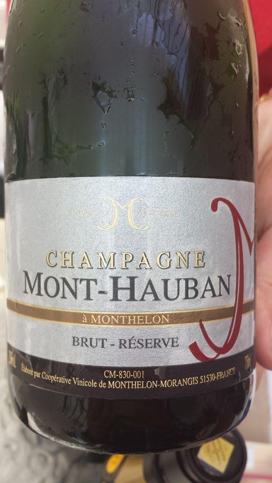 Champagne Mont-Hauban – Cuvée Réserve – Brut – NV