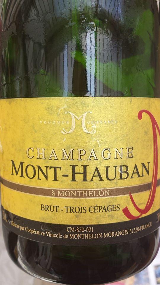 Champagne Mont-Hauban – Trois cépages – Brut – NV