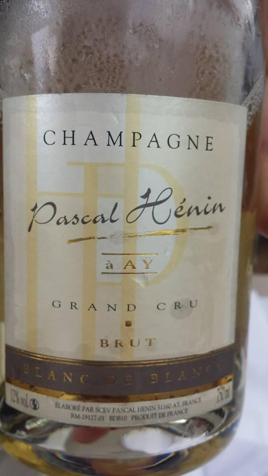 Champagne Pascal Hénin – Blanc de Blancs – Brut – Grand Cru – NV