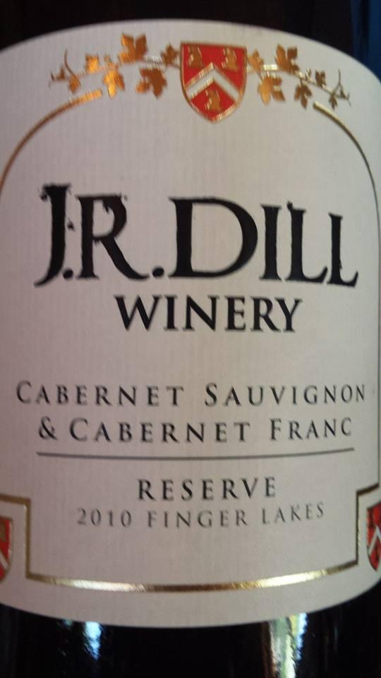 J.R. Dill Winery – Cabernet Sauvignon & Cabernet Franc – Réserve 2010 – Finger Lakes