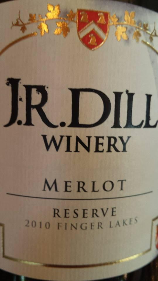 J.R. Dill Winery – Merlot 2010 Reserve – Finger Lakes