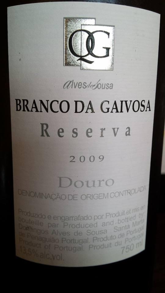 Alves de Sousa – Branco da Gaivosa – Reserva 2009 – DOC Douro