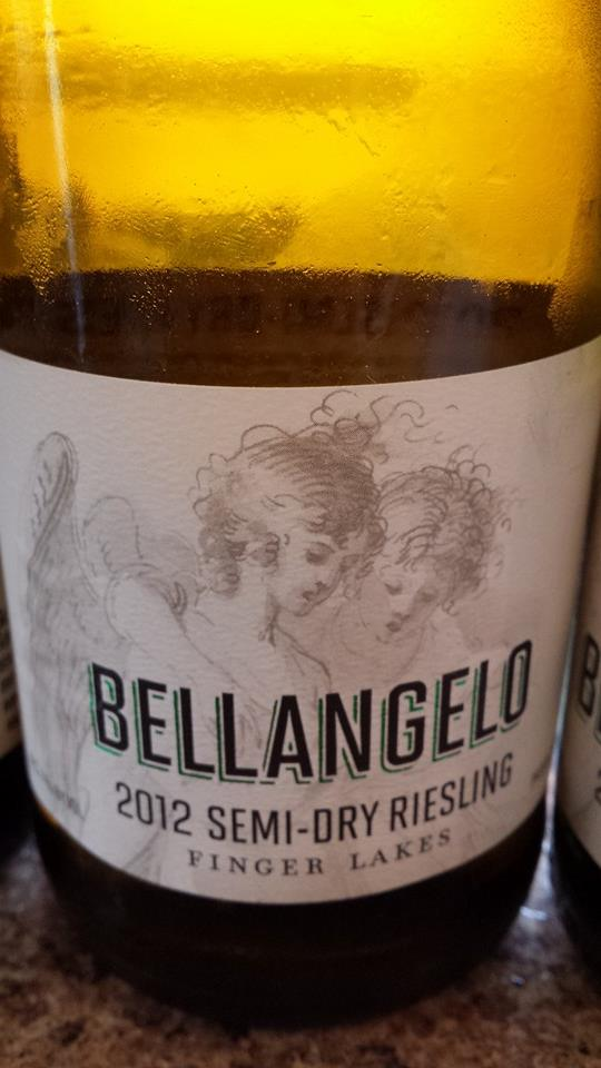 Bellangelo – 2012 Semi-Dry Riesling – Finger Lakes