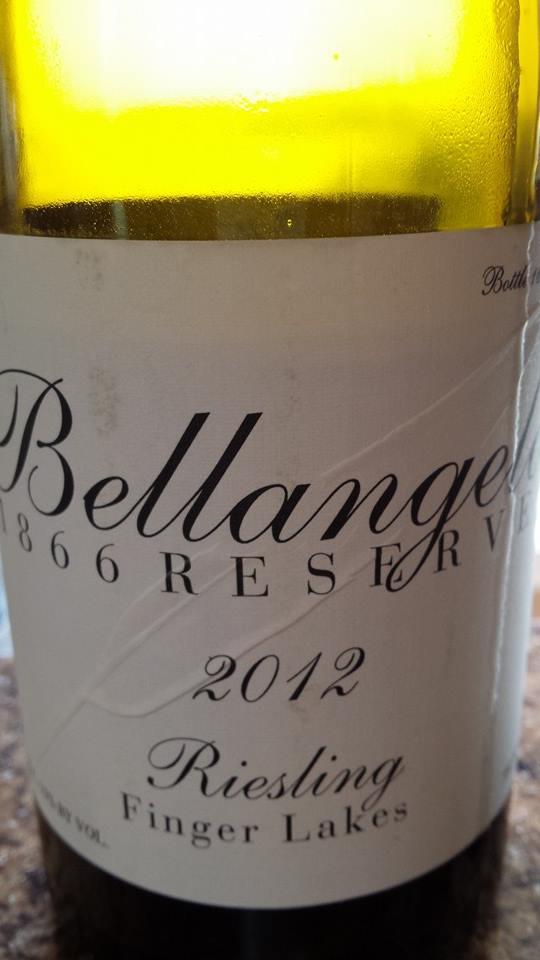 Bellangelo – 866 Reserve – 2012 Riesling – Finger Lakes