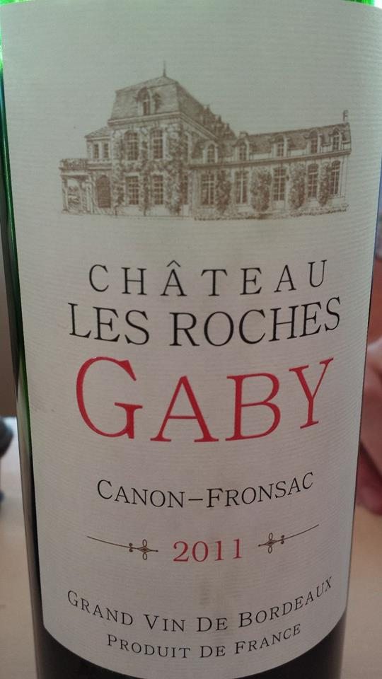 Château Les Roches Gaby 2011 – Canon-Fronsac