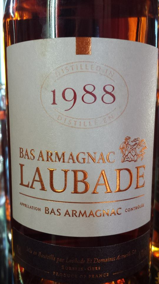 Château de Laubade – Millésime 1988 – Bas Armagnac
