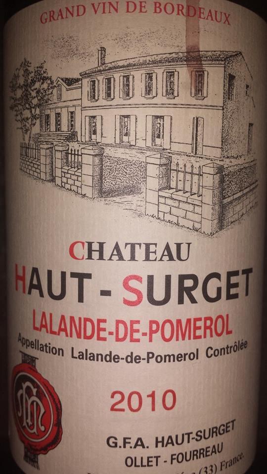 Château Haut-Surget 2010 – Lalande-de-Pomerol