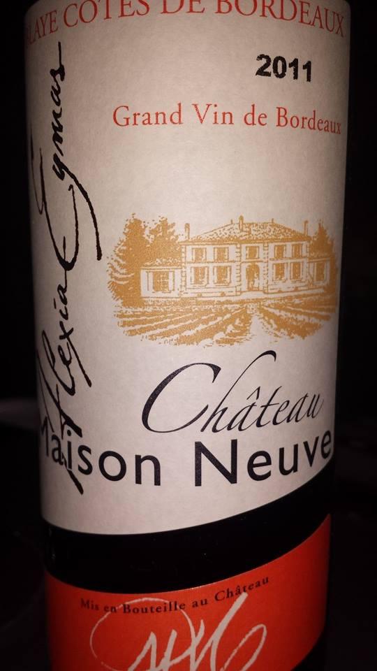 Château Maison Neuve 2011 – Blaye Côtes de Bordeaux