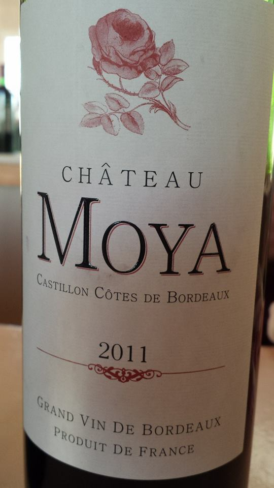 Château Moya 2011 – Castillon Côtes de Bordeaux
