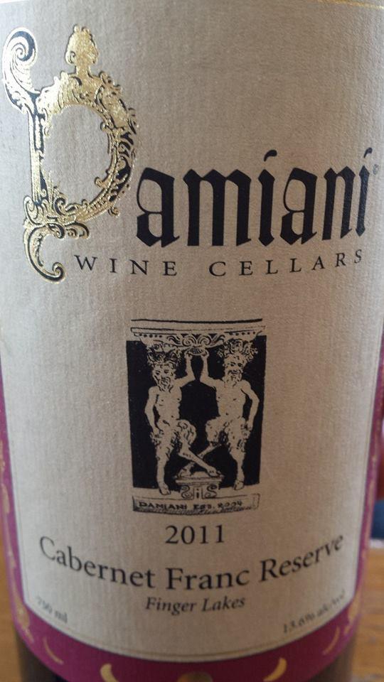 Damiani Wine Cellars – Cabernet Franc Réserve 2011 – Finger Lakes