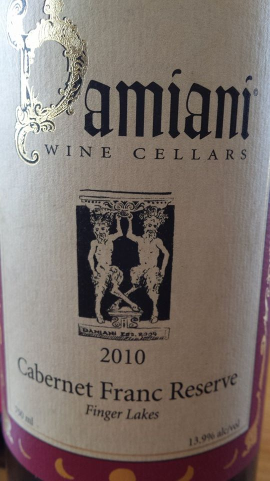 Damiani Wine Cellars – Cabernet Franc Reserve 2010 – Finger Lakes