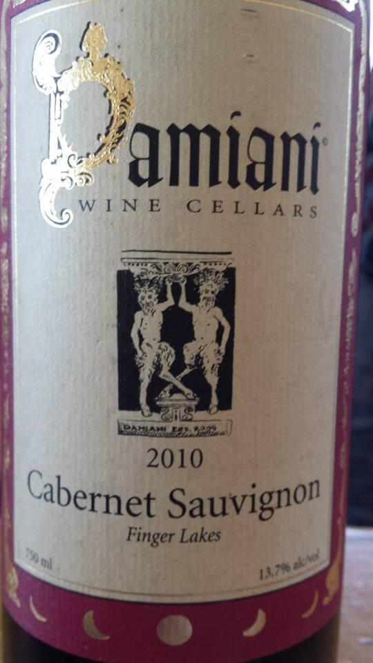 Damiani Wine Cellars – Cabernet Sauvignon 2010 – Finger Lakes