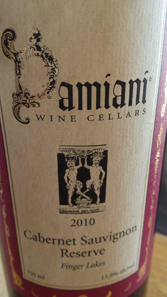 Damiani Wine Cellars – Cabernet Sauvignon Réserve 2010 – Finger Lakes