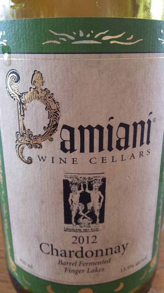 Damiani Wine Cellars – Chardonnay 2012 – Barrel Fermented – Finger Lakes